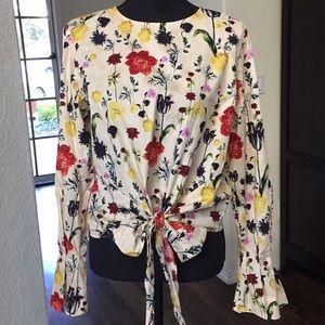 NWT - H&M Floral Blouse